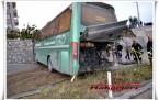Tosya D100'de İran Otobüsü Kaza Yaptı 2 Yaralı Fot