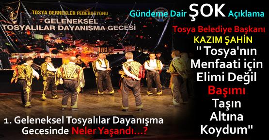 1. Geleneksel Tosyalılar Dayanışma Gecesi Düzenlendi