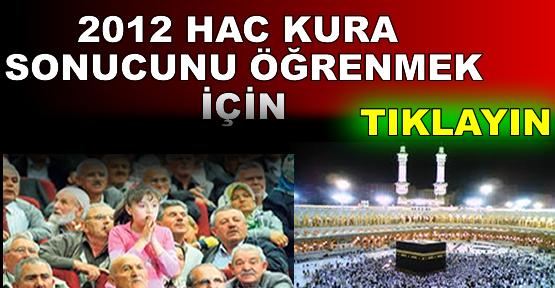 2012 HAC KURALARI ÇEKİLDİ