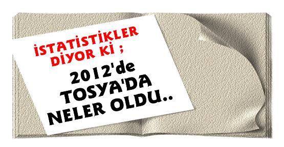 2012 YILI TOSYA İSTATİSTİK RAKAMLARI