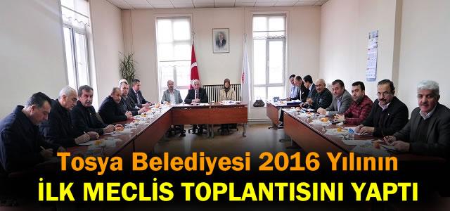 TOSYA BELEDİYESİ YILIN İLK MECLİS TOPLANTISINI YAPTI
