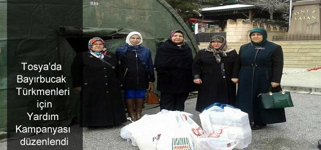 Tosya'da yardım kampanyası başlatıldı