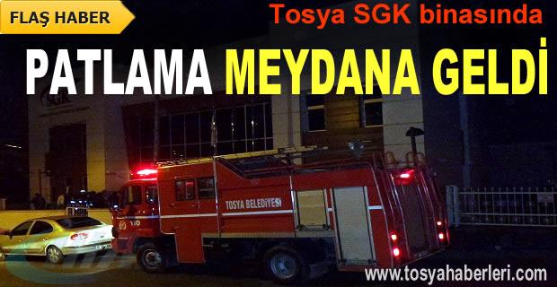 TOSYA SGK BİNASINDA PATLAMA