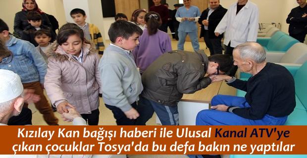 Fevzipaşa İlkokulu öğrencileri Tosya Huzurevini ziyaret etti