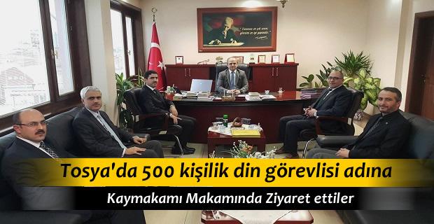 Tosya Din Görevlileri Kaymakam Yusuf Cıbır'ı Ziyaret Etti