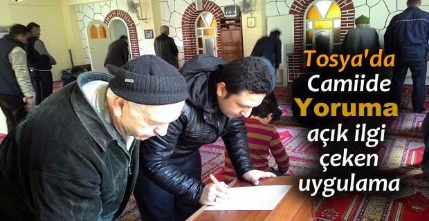 TOSYA'DA CUMA NAMAZI SONRASI İMAMDAN İLGİ ÇEKEN UYGULAMA