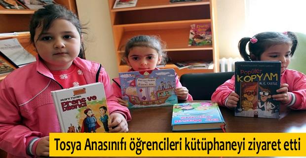 Tosya'da Anasınıfı öğrencileri kütüphaneyi ziyaret etti