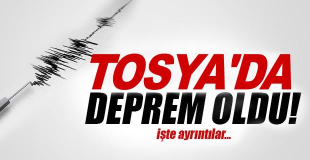 TOSYA'DA DEPREM MEYDANA GELDİ