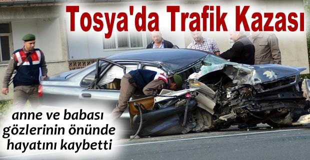 TOSYA'DA FECİ TRAFİK KAZASI 2 ÖLÜ 2 AĞIR YARALI