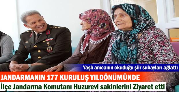JANDARMANIN 177 KURULUŞ YILDÖNÜMÜNDE KOMUTANLAR HUZUREVİNİ ZİYARET ETTİ