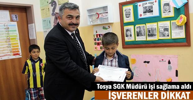 Tosya'da Sosyal Güvenlik Elçileri Sertifikalarını Aldı