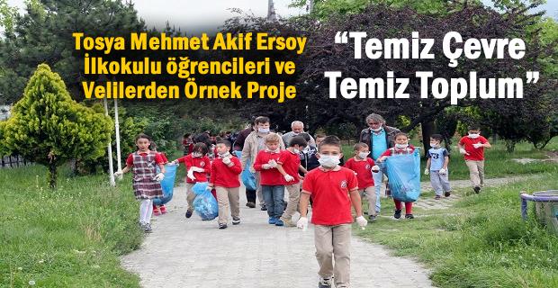 TOSYA'DA ÖĞRENCİLERDEN ÖRNEK PROJE ''TEMİZ ÇEVRE TEMİZ TOPLUM''