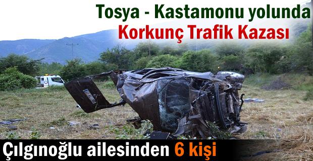 TOSYA-KASTAMONU YOLU TRAFİK KAZASI