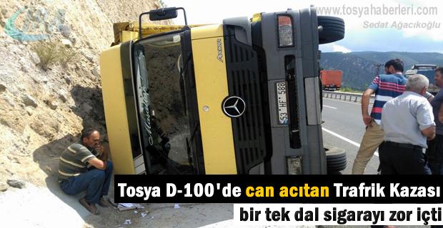 Tosya Trafik Kazası 1 kişi yaralandı