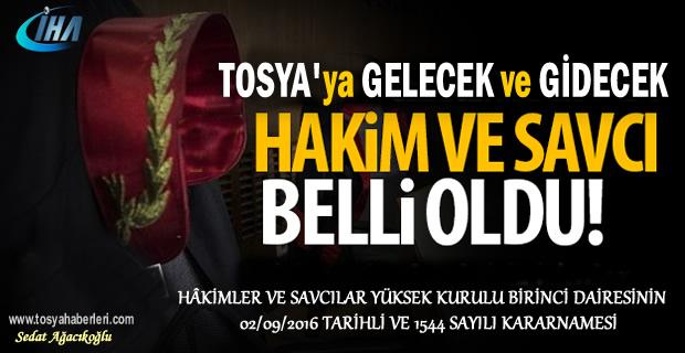 Tosya'da Hakim ve Savcı Atamaları