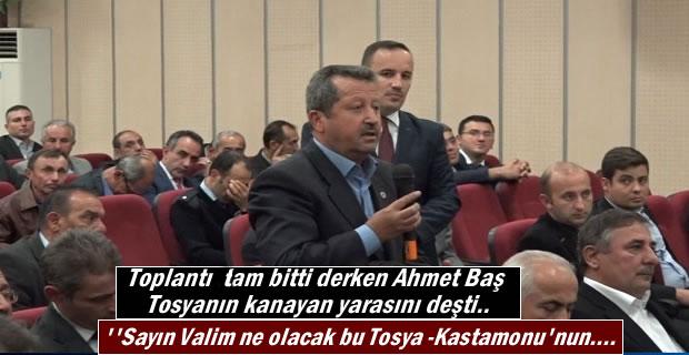 Şoförler Odası Başkanı Ahmet Baş Tosyanın kanayan yarasını deşti