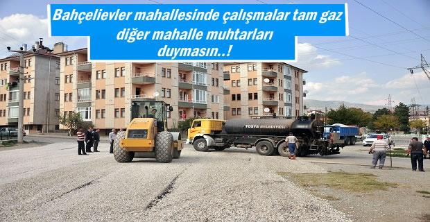 Tosya Belediyesi Bahçelievler Mahallesinde