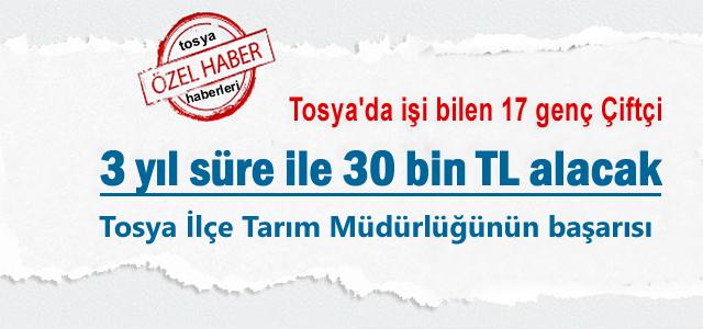 Tosya'da 17 kişi 30 Bin TL almaya Hak kazandı