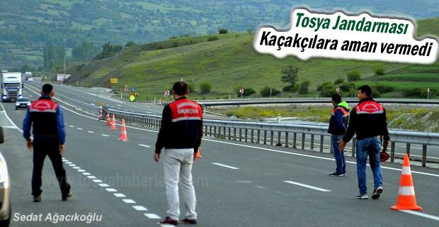 Tosya Jandarma Kaçak Kol Saati Yakaladı