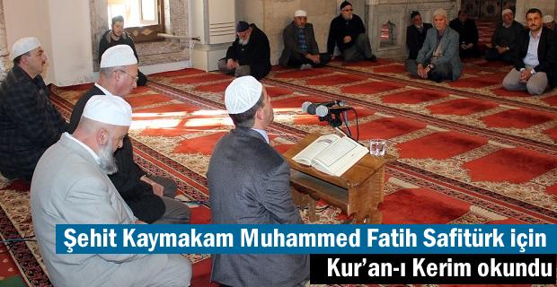 Kaymakam Muhammed Fatih Safitürk için Tosya'da Kur'an-ı Kerim okundu