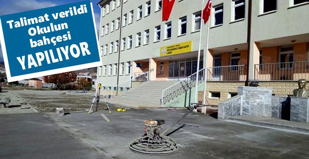 Kız Anadolu İmam Hatip Lisesi bahçesi yeniden düzenleniyor