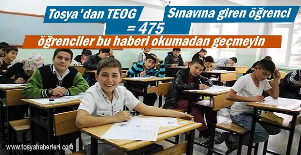 Tosya'dan 5 Öğrenci TEOG Sınavına Girecek
