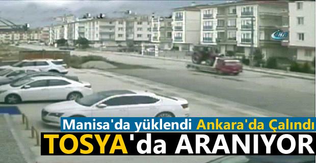 Manisa'da Yüklenen Ankara'da Çalınan Traktör Tosya'da Aranıyor