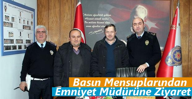 Tosya Basın Mensupları İlçe Emniyet Müdürüne taziye ziyaretinde bulundu.