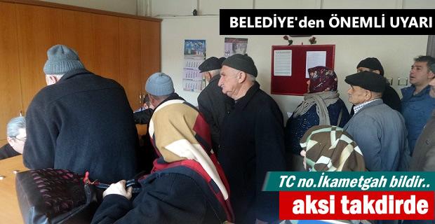 Tosya Belediyesinden Vatandaşlara Önemli Uyarı