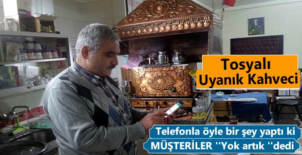 Tosya'da Çay ocağı işletmeci 'WhatsApp çay isteme hattı' kurdu