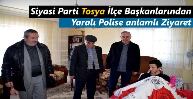 Siyasi Parti Tosya İlçe Başkanlarından Yaralı Polise Ziyaret