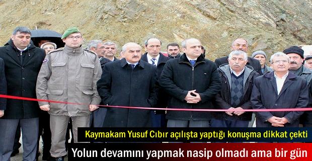 Tosya'da Kızılöz köprüsünün açılışını Kaymakam yaptı