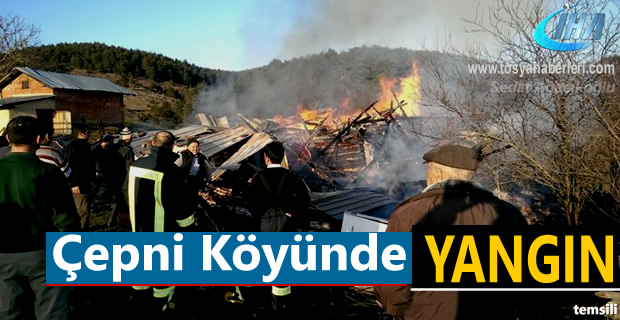 Çepni Köyünde Yangın