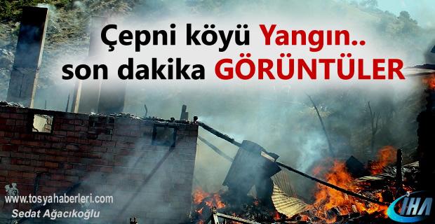 Tosya Çepni Köyünde İşçilere ait koğuş yandı