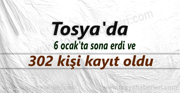 Tosya'da ilk defa gitmek isteyen 302 kişi kayıt yaptırdı
