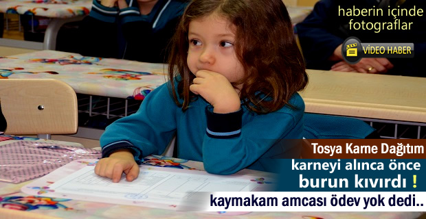Tosya'da Yarıyıl Tatili Karne dağıtım Töreni (Video Haber )