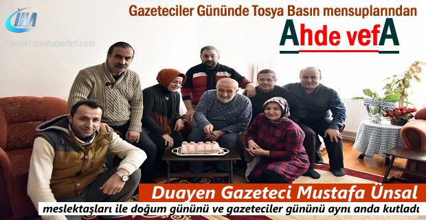 Tosya'nın Duayen gazetecisi Mustafa Ünsal'a meslektaşlarından anlamlı ziyaret