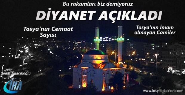 Diyanet İşleri Başkanlığı Tosya'da İmam ve Müezzin olmayan Camileri yayınladı