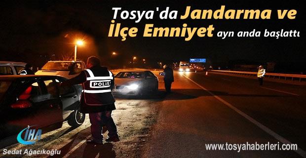 Tosya'da Jandarma ve Polis 'den aynı anda Operasyona başladı