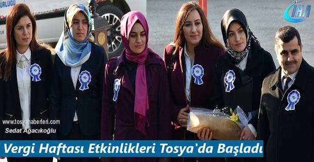 Vergi Haftası Etkinlik Kutlamaları Tosya'da başladı