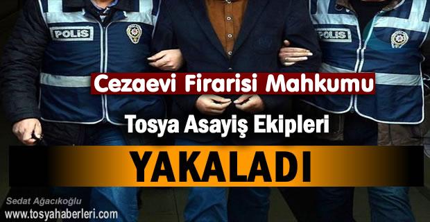 Cezaevi Firari Mahkumu Tosya Polisi Yakaladı