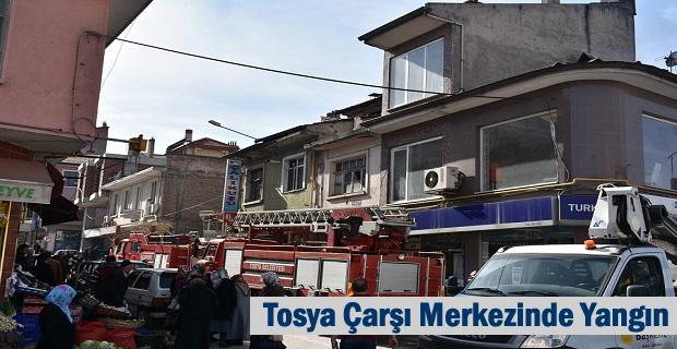 Tosya Çarşı Merkezinde Yangın
