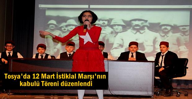 Tosya'da 12 Mart İstiklal Marşı'nın Kabulü ve Mehmet Akif Ersoy'u Anma Programı' düzenlendi