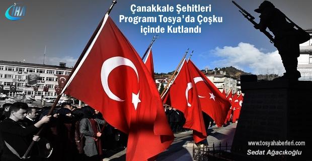 Tosya'da 18 Mart Şehitleri Anma ve Çanakkale Deniz Zaferi Kutlandı