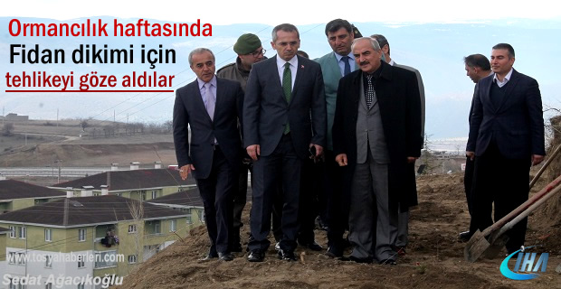 Tosya'da 21 Mart Ormancılık Haftasında Fidan dikimi yapıldı