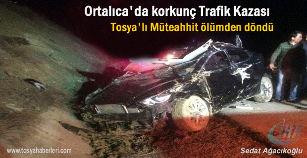 Tosyalı Müteahhit Trafik Kazasında Ölümden Döndü