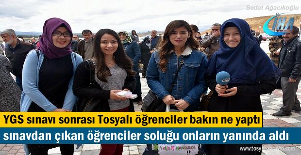 YGS sınavı sonrası Tosyalı Öğrencilerden dikkat çekici kampanya