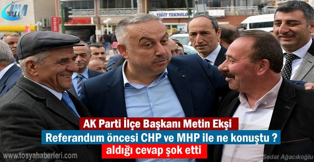 AK Parti İlçe Başkanı Metin Ekşi kısa süreli şok yaşasa da
