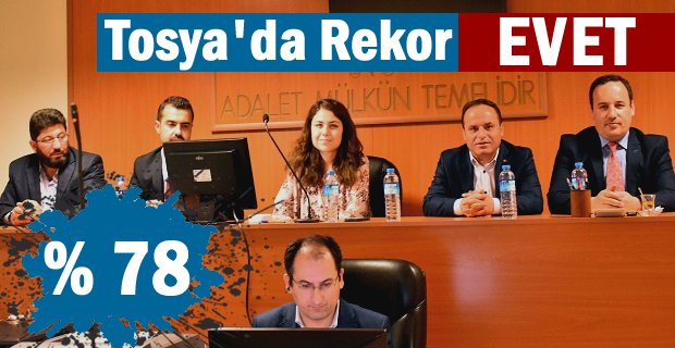 REFERANDUM 2017 TOSYA SEÇİM SONUÇLARI
