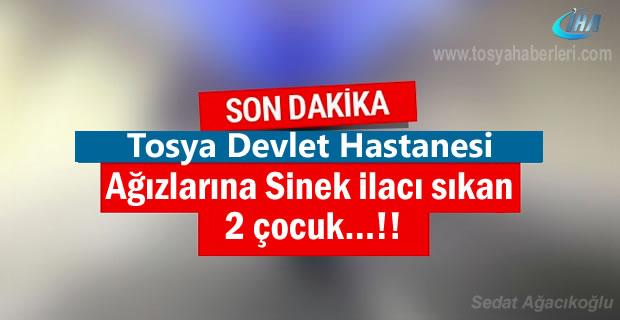 Tosya'da ağızlarına sinek ilacı sıkan 2 çocuk zehirlendi